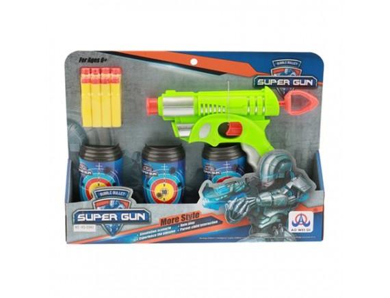 Игрушка Пистолет с мягкими пулями и мишенью 200515561 - приобрести в ИГРАЙ-ОПТ - магазин игрушек по оптовым ценам