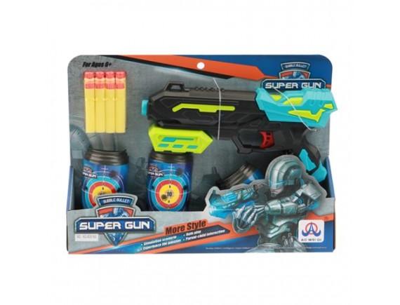 Игрушка Пистолет с мягкими пулями и мишенью 200515564