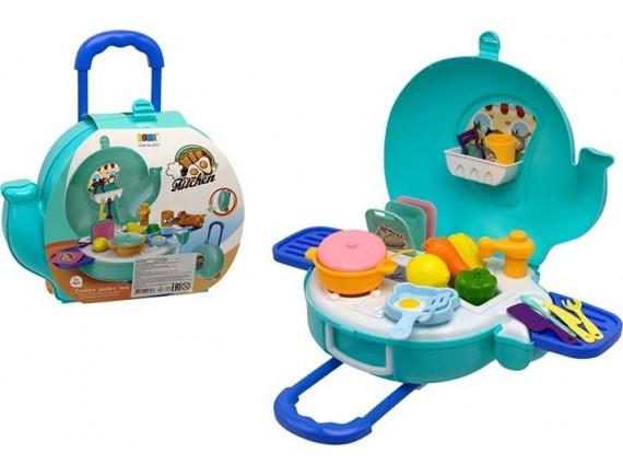 Игровой набор с посудой Kitchen в чемодане 200520882