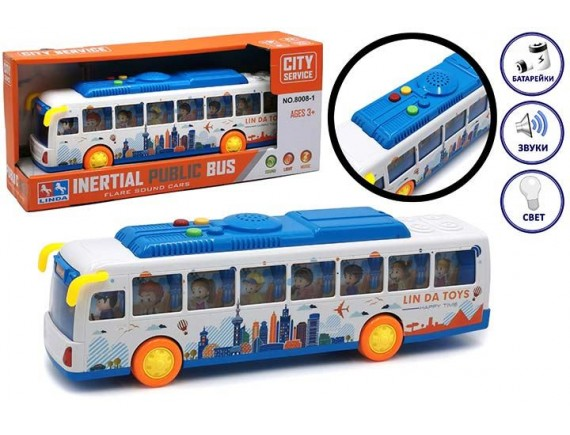 "Машинка ""Автобус"" на батарейках 200609549"