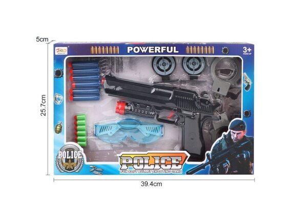 Игрушка Пистолет с мягкими и гелиевыми пулями 200629543