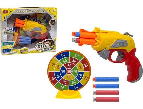 Игра Super Gun Game с пистолетом, мягкими пулями и мишенью 200666053