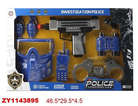 Игровой набор с оружием Полицейский 200693817