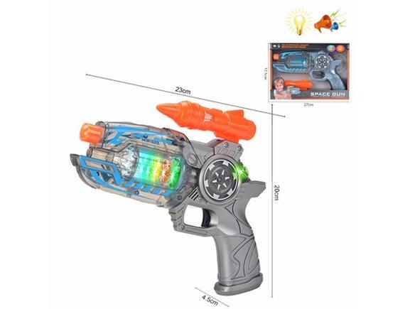 Бластер, на батарейках, свет/звук 200711551 - приобрести в ИГРАЙ-ОПТ - магазин игрушек по оптовым ценам