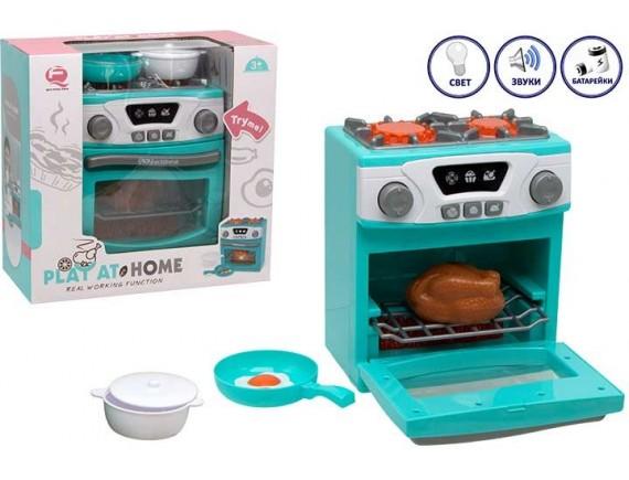 Игрушка плита с духовкой Play at home на батарейках 200729140