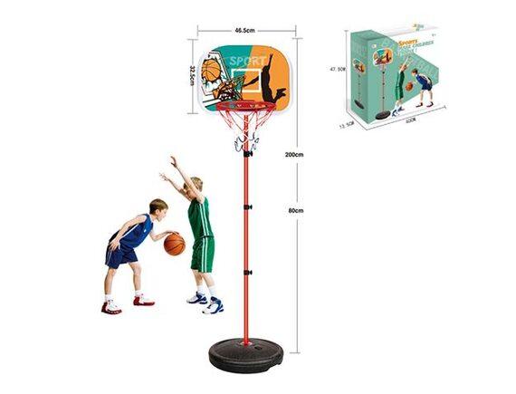 Набор для баскетбола со щитом, раздвижной стойкой и корзиной 200812226