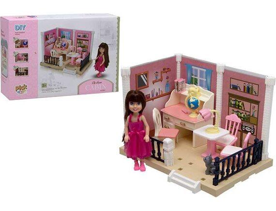 Игровой набор DIY Уютная квартира - комната для девочки 200828824
