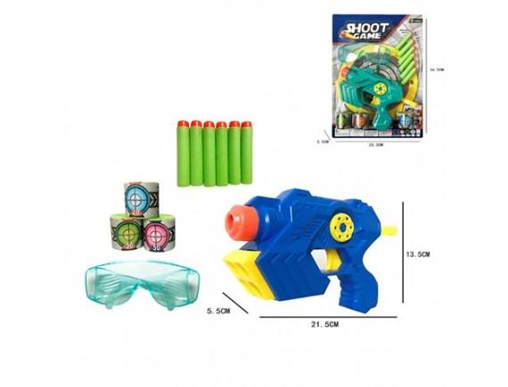 Игрушечный пистолет Shoot Game с мягкими пулями и мишенями 200833321