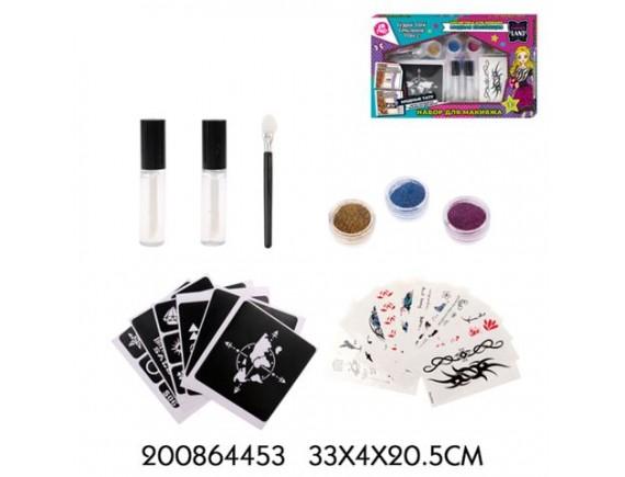 Детский набор для макияжа и тату TM LAPULLIKIDS с наклейками 200864453
