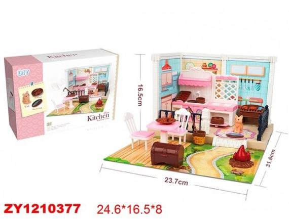 Игровой набор DIY Уютная квартира барбекю 200871116