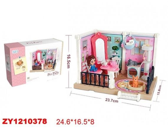 Игровой набор DIY Уютная квартира с животными 200871117