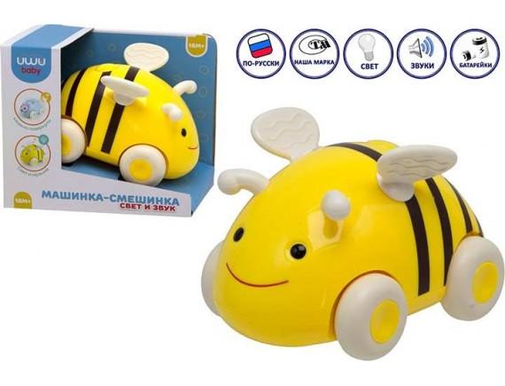 Машинка - каталка Пчелка со светом и звуком 77205