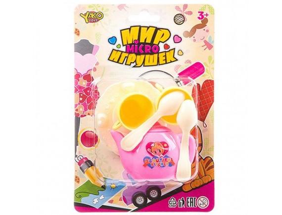 Чайный набор детской посудки Yaco Toys Мир Игрушек Д93788 - приобрести в ИГРАЙ-ОПТ - магазин игрушек по оптовым ценам