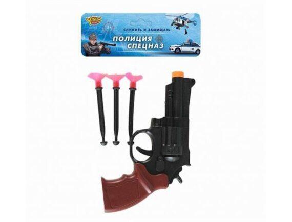 Револьвер, стрелы с присосками 3шт M0338