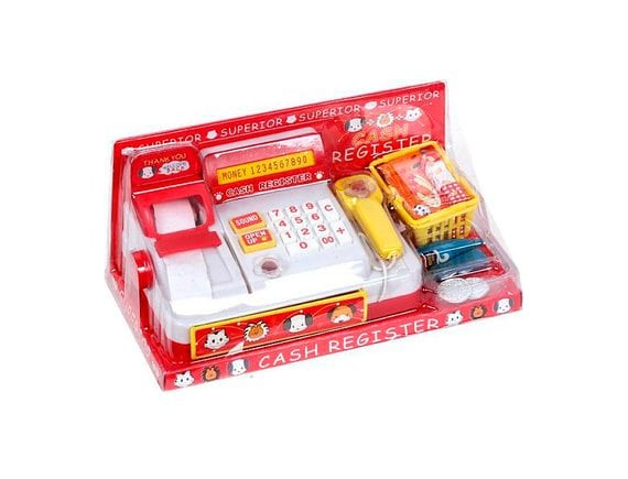 Кассовый аппарат с корзинкой и продуктами 398