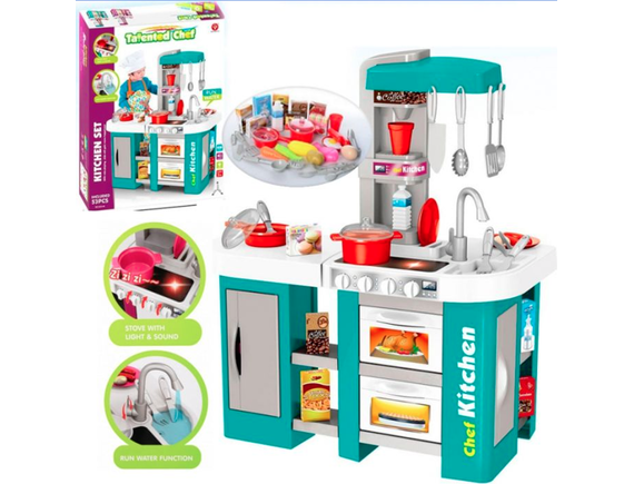 Детская игровая кухня с водой Kitchen Chef, свет и звук 53 предмета 922-46