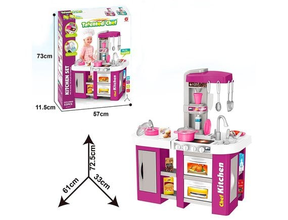 Детская игровая кухня с водой Kitchen Chef, свет и звук 53 предмета 922-47