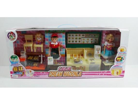 Кукла Лия в кафе L0467