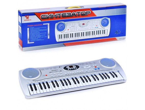 Детский синтезатор с микрофоном с 54 клавишами  LTSD-5490