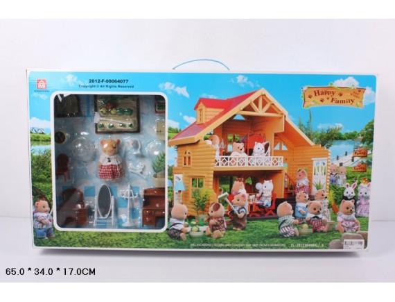 Загородный домик для зверюшек Happy Family 012-03