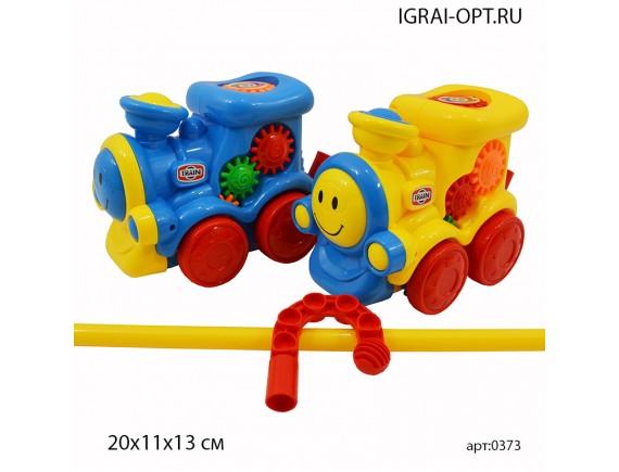 Каталка-паровозик 0373
