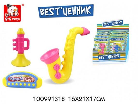 Музыкальные инструменты в дисплее, 9 штук, пластик 100991318