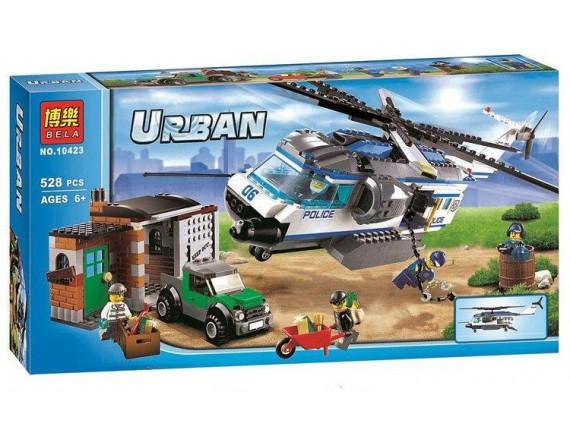 """Конструктор BELA Urban  """"Вертолетный патруль"""" 10423 - приобрести в ИГРАЙ-ОПТ - магазин игрушек по оптовым ценам"""