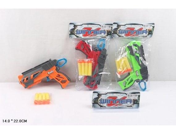 Пистолет с мягкими пулями в пакете 1121-1