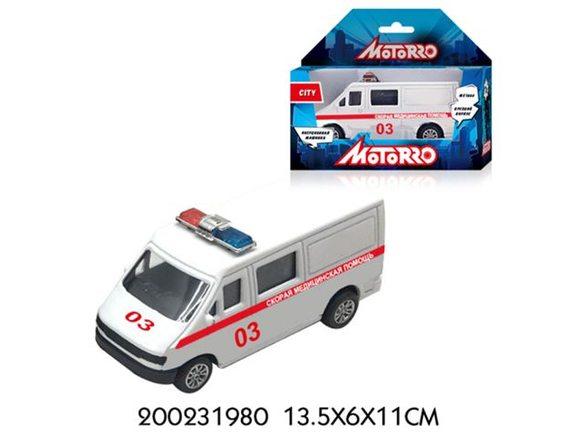 """Машинка Motorro """"Скорая помощь"""" 200231980"""