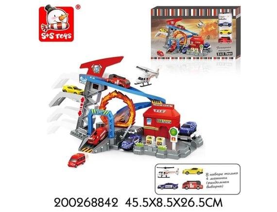 Набор-Паркинг-Пожарная техника-4 машинки 200268842