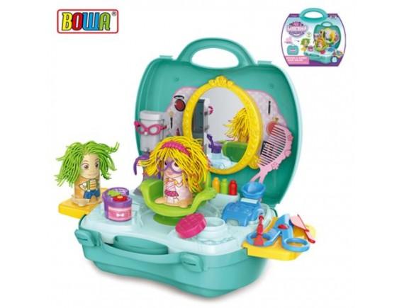 """Игровой набор """"Салон красоты"""" в пластиковом рюкзаке 200271057"""