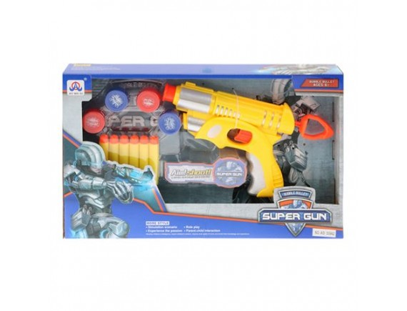"""Игрушка """"Пистолет"""" с мягкими пулями и мишенью 200369921"""