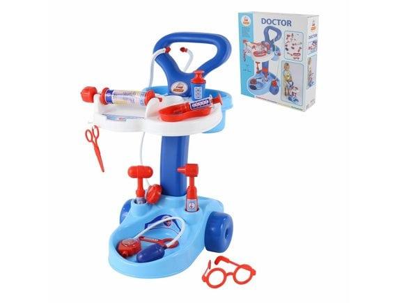 Игровой набор Доктор с тележкой, 11 предметов 36582