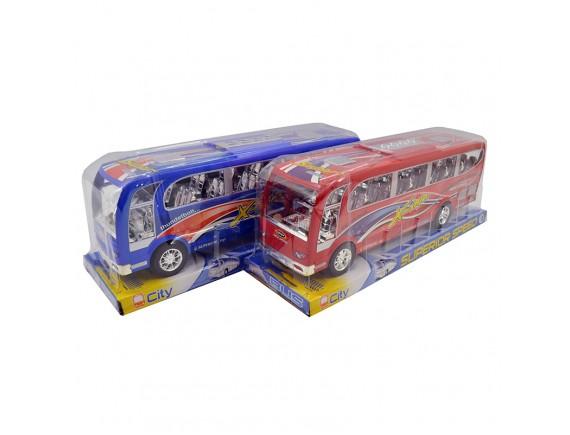 Инерционный автобус свет и звук  624A-4