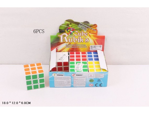 Кубик Рубика (6 шт. в уп.) 6803