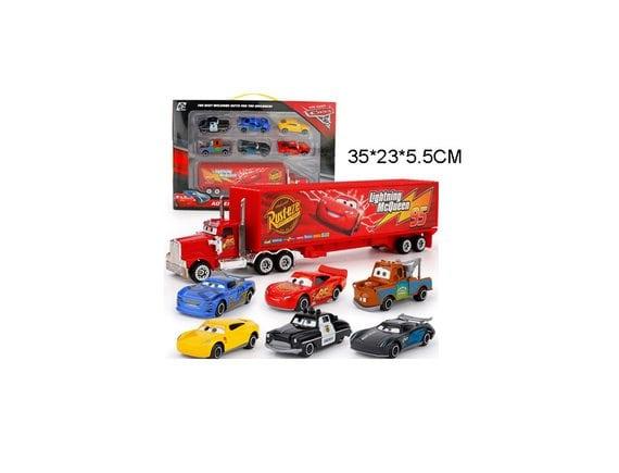 Набор машинок c трейлером 7327-K1
