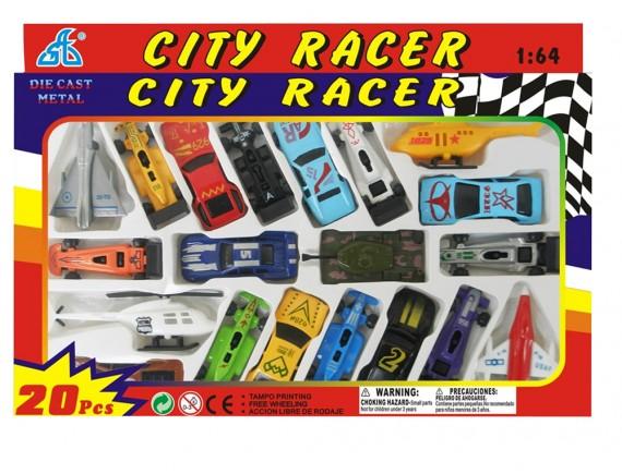 Набор инерционных машинок City Racer 92753-20PS