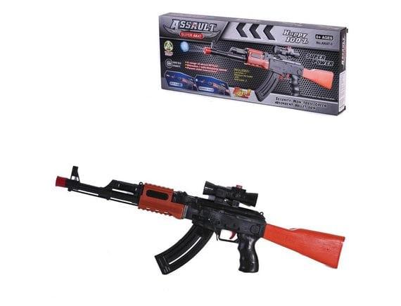Автомат 2в1 для мягких и водных пуль AK47-1