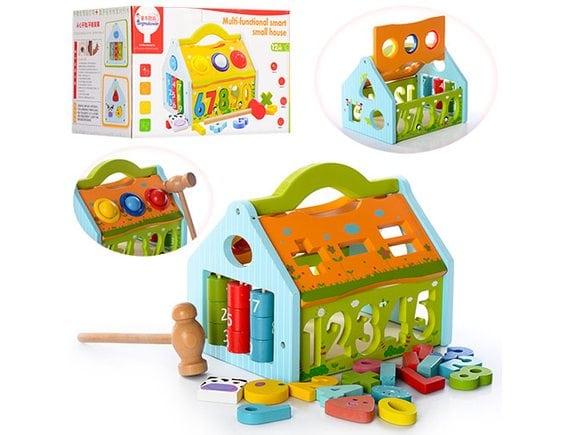 Деревянная развивающая игрушка-сортер F33661