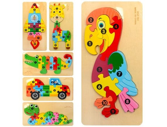 Деревянная игрушка Пазл F33664