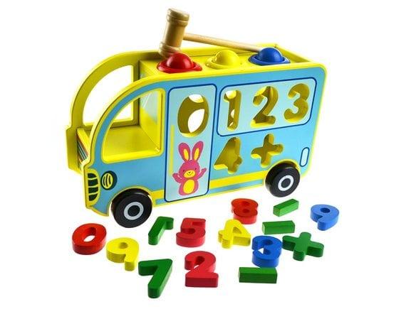 Деревянная игрушка Автобус-сортер F33684