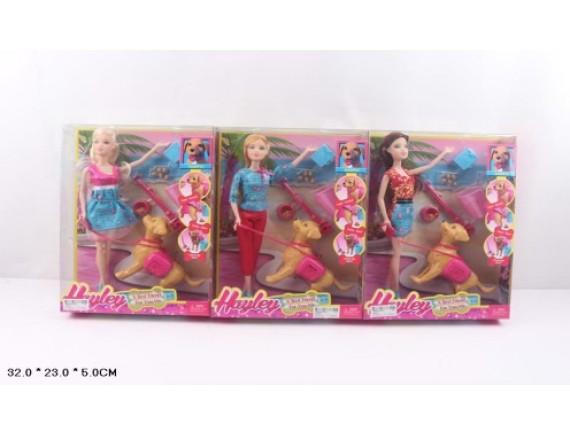 Кукла с интерактивной собачкой HB009