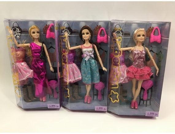 Кукла шарнирная с аксессуарами (3 вида) HB891