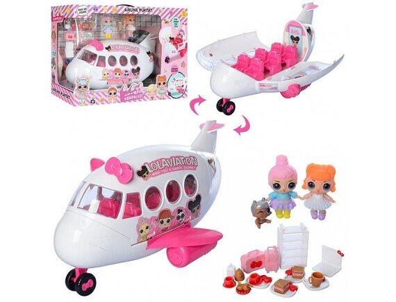 Игровой набор с куклой и самолетом K5625