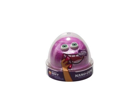 "Пластилин для лепки ""Жвачка для рук ""Nano gum"", сиренево-розовый"", 50 гр NG2SR50"