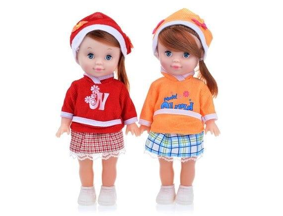 Две куклы в пакете  P8871-12-PVC