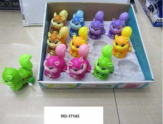 Заводная игрушка Белка (цена указана за шт., в упаковке 12 шт.) RO-17143