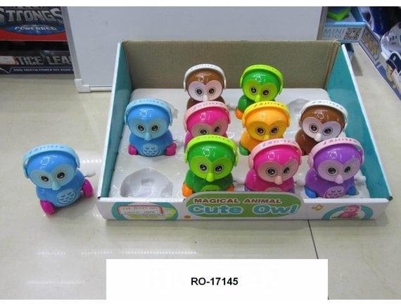 Заводная игрушка Сова (цена указана за шт., в упаковке 12 шт.) RO-17145