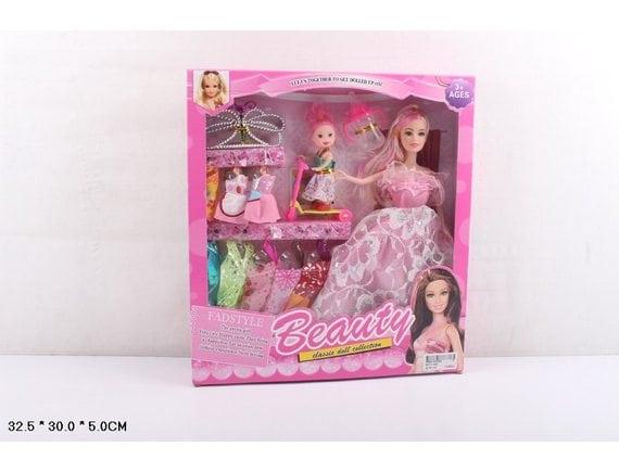 Кукла с ребенком, одеждой и аксессуарами SFD112A5