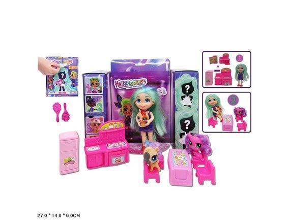 """Кукла-сюрприз """"Стильные подружки"""" с питомцами и мебелью TM920B"""